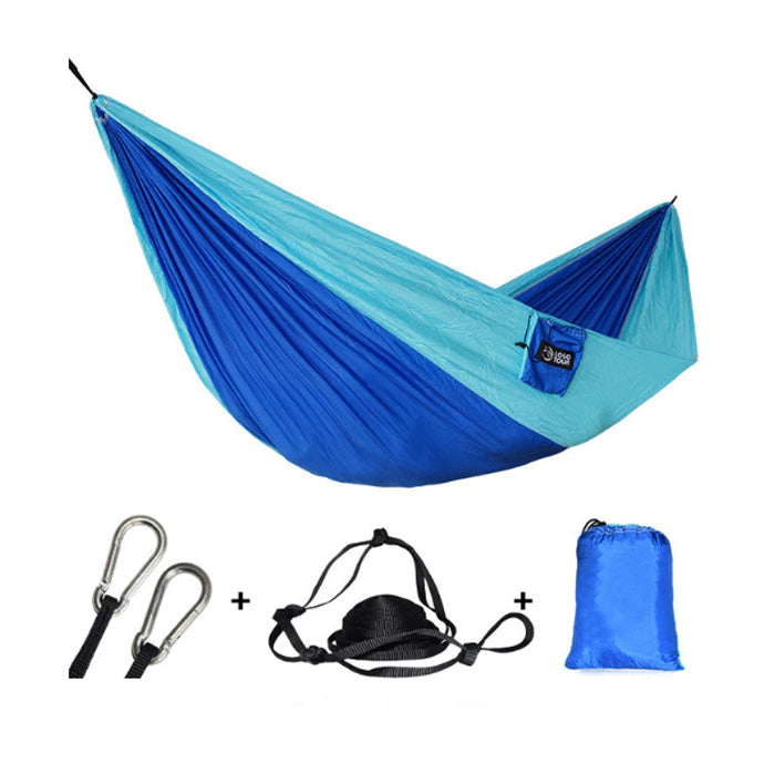 Outdoors Portable Camping Parachute Sleeping Double Hammock