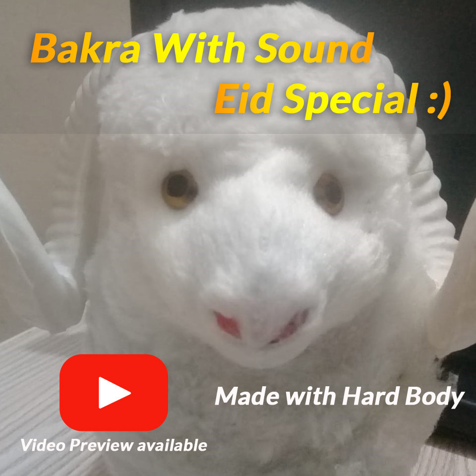 White Goat ( Bakra ) Eid Special Hard Toy With Souns