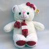 Bear Big White With Mufral Height 54cm