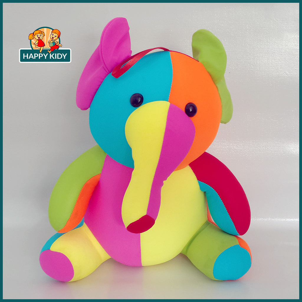 Elephant Stuffed Toys Filled with Beans Rainbow Colors