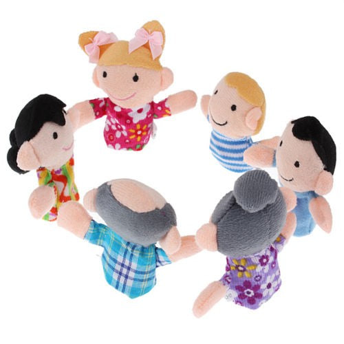 Finger family puppet pieces toys