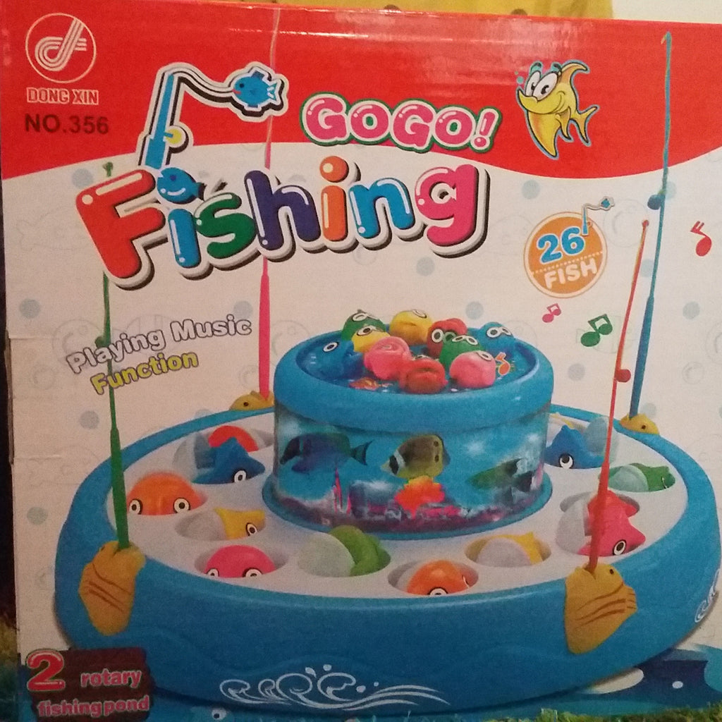 Gogo Musical Fishing Game 26 pieces Fish Toy