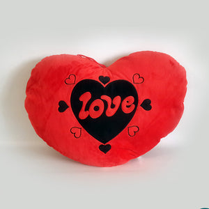 Red Love Heart Shape Love Pillow Stuffed Width 13inch