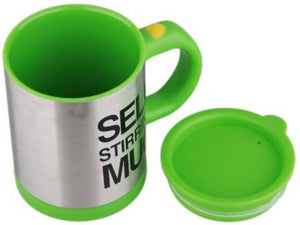 SELF STIRRING MUG Green Stainless Steel, Plastic Mug