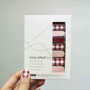 Alice Gingham - NAILWRAP.CO Nail Wrap Co Nail Wraps Singapore Online SG Nail Stickers Nodspark Freshly Wrapped Freshlywrapped Emmezingnails Yaytonails Yay to Nails Nailedit-wraps Nailed it Gelato Factory Korea United States Australia Personail Itspersonail Nails Mailed Polishpops Cheap DIY Manicure Salon Gelish Acrylic Kids Happie Manufacturer Supplier Wholesale Customized Review