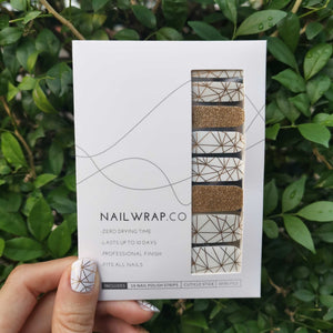Buy Aurélie Gold Nail Polish Wraps at the lowest price in Singapore from NAILWRAP.CO. Worldwide Shipping. Instant designer nail art manicure in under 10 minutes.