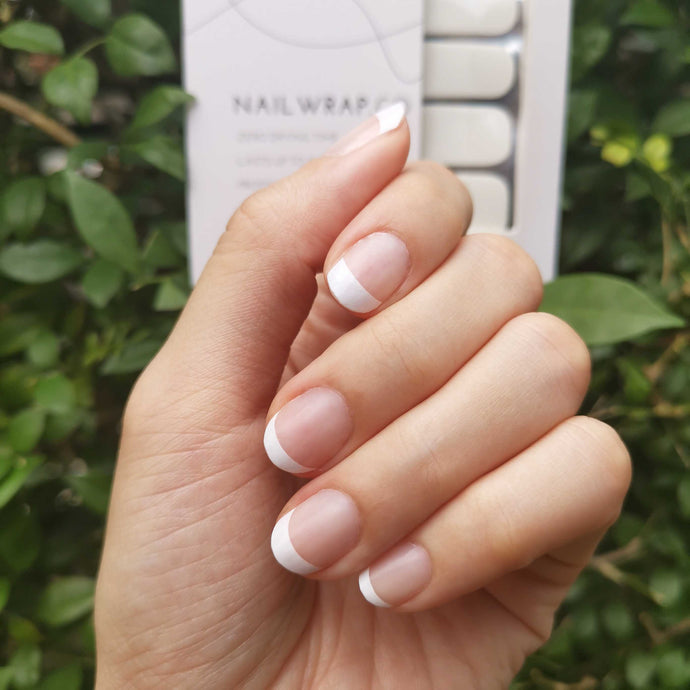Buy Freya Classic French (Short) Nail Wraps at the lowest price in Singapore from NAILWRAP.CO. We Ship Worldwide. Over 300 designs! Instant designer nail art under 10 minutes