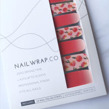 Load image into Gallery viewer, Buy Peach Blossom Nail Polish Wraps at the lowest price in Singapore from NAILWRAP.CO. Worldwide Shipping. Instant designer nail art manicure in under 10 minutes.