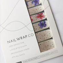 Load image into Gallery viewer, Where This Flower Blooms - NAILWRAP.CO Nail Wrap Co Nail Wraps Singapore Online SG Nail Stickers Nodspark Freshly Wrapped Freshlywrapped Emmezingnails Yaytonails Yay to Nails Nailedit-wraps Nailed it Gelato Factory Korea United States Australia Personail Itspersonail Nails Mailed Polishpops Cheap DIY Manicure Salon Gelish Acrylic Kids Happie Manufacturer Supplier Wholesale Customized Review