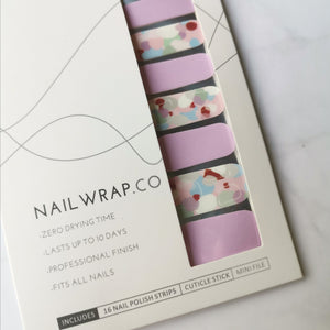 Buy Lilac Romance Nail Polish Wraps at the lowest price in Singapore from NAILWRAP.CO. Worldwide Shipping. Instant designer nail art manicure in under 10 minutes.