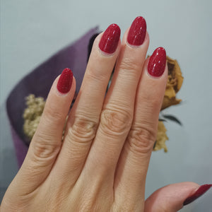 Buy Classic Maroon Sparkle Nail Polish Wraps at the lowest price in Singapore from NAILWRAP.CO. Worldwide Shipping. Instant designer nail art manicure in under 10 minutes.