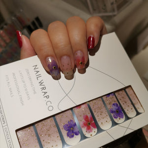 Buy Where This Flower Blooms Nail Polish Wraps at the lowest price in Singapore from NAILWRAP.CO. Worldwide Shipping. Instant designer nail art manicure in under 10 minutes.