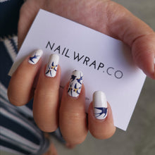 Load image into Gallery viewer, Buy Blue Sparrows Nail Polish Wraps at the lowest price in Singapore from NAILWRAP.CO. Worldwide Shipping. Instant designer nail art manicure in under 10 minutes.