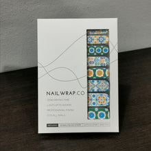 Load image into Gallery viewer, Buy Peranakan Tiles Nail Polish Wraps at the lowest price in Singapore from NAILWRAP.CO. Worldwide Shipping. Instant designer nail art manicure in under 10 minutes.