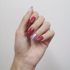 Buy Stacia Red Brushstrokes Nail Polish Wraps at the lowest price in Singapore from NAILWRAP.CO. Worldwide Shipping. Instant designer nail art manicure in under 10 minutes.