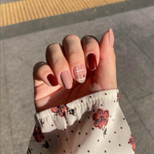Load image into Gallery viewer, Buy Ada Grid Nail Polish Wraps at the lowest price in Singapore from NAILWRAP.CO. Worldwide Shipping. Instant designer nail art manicure in under 10 minutes.