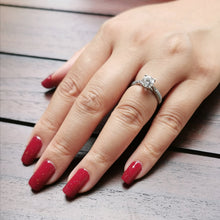 Load image into Gallery viewer, Buy Classic Maroon Sparkle Nail Polish Wraps at the lowest price in Singapore from NAILWRAP.CO. Worldwide Shipping. Instant designer nail art manicure in under 10 minutes.