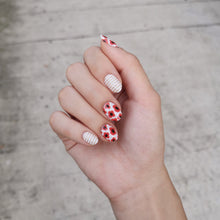 Load image into Gallery viewer, Buy Poppy Red Nail Polish Wraps at the lowest price in Singapore from NAILWRAP.CO. Worldwide Shipping. Instant designer nail art manicure in under 10 minutes.