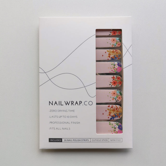 Buy Lucinda Flower Power Nail Polish Wraps at the lowest price in Singapore from NAILWRAP.CO. Worldwide Shipping. Instant designer nail art manicure in under 10 minutes.
