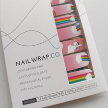 Load image into Gallery viewer, Buy Unicorn Dreams 🌈 Nail Polish Wraps at the lowest price in Singapore from NAILWRAP.CO. Worldwide Shipping. Instant designer nail art manicure in under 10 minutes.