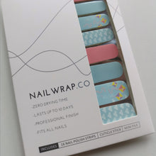 Load image into Gallery viewer, Buy Fly High Nail Polish Wraps at the lowest price in Singapore from NAILWRAP.CO. Worldwide Shipping. Instant designer nail art manicure in under 10 minutes.