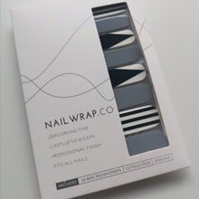 Load image into Gallery viewer, Buy Monochrome Cutout Nail Polish Wraps at the lowest price in Singapore from NAILWRAP.CO. Worldwide Shipping. Instant designer nail art manicure in under 10 minutes.