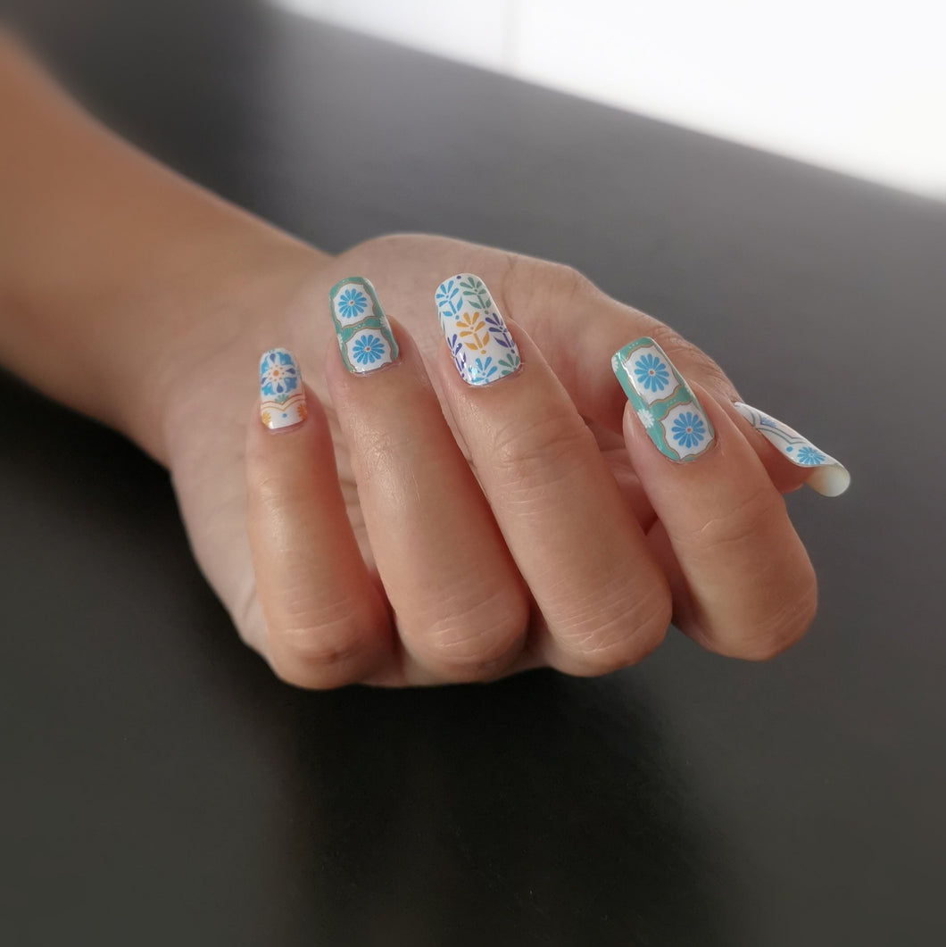 Buy Peranakan Tiles Nail Polish Wraps at the lowest price in Singapore from NAILWRAP.CO. Worldwide Shipping. Instant designer nail art manicure in under 10 minutes.
