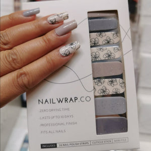 Buy Sasha Floral Nail Polish Wraps at the lowest price in Singapore from NAILWRAP.CO. Worldwide Shipping. Instant designer nail art manicure in under 10 minutes.