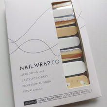 Load image into Gallery viewer, Buy Morning Dawn Nail Polish Wraps at the lowest price in Singapore from NAILWRAP.CO. Worldwide Shipping. Instant designer nail art manicure in under 10 minutes.
