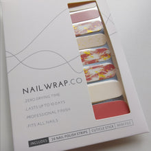 Load image into Gallery viewer, Buy Orange Sparks Nail Polish Wraps at the lowest price in Singapore from NAILWRAP.CO. Worldwide Shipping. Instant designer nail art manicure in under 10 minutes.