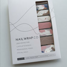 Load image into Gallery viewer, Buy Pink Joy Nail Polish Wraps at the lowest price in Singapore from NAILWRAP.CO. Worldwide Shipping. Instant designer nail art manicure in under 10 minutes.
