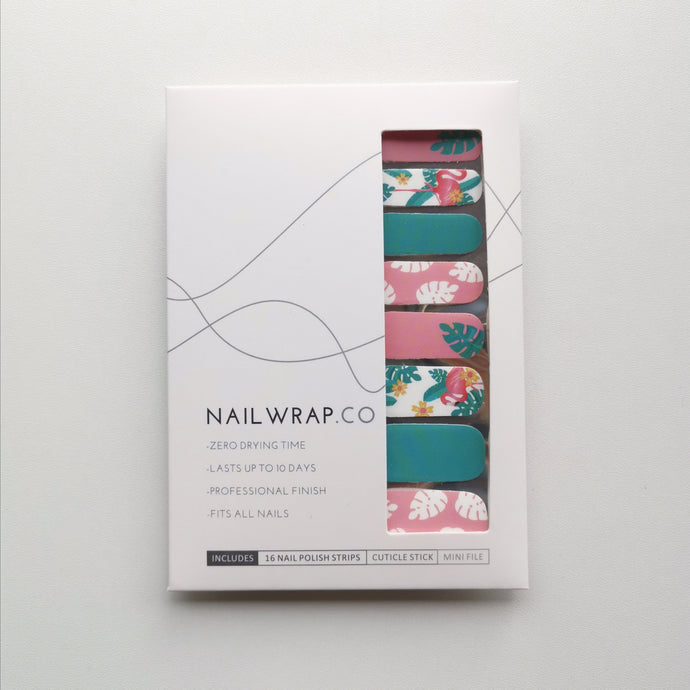 Buy Tropical Flamingo Nail Polish Wraps at the lowest price in Singapore from NAILWRAP.CO. Worldwide Shipping. Instant designer nail art manicure in under 10 minutes.