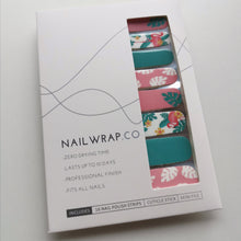 Load image into Gallery viewer, Buy Tropical Flamingo Nail Polish Wraps at the lowest price in Singapore from NAILWRAP.CO. Worldwide Shipping. Instant designer nail art manicure in under 10 minutes.