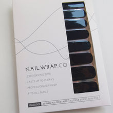 Load image into Gallery viewer, Buy Black Out (Solid) Nail Polish Wraps at the lowest price in Singapore from NAILWRAP.CO. Worldwide Shipping. Instant designer nail art manicure in under 10 minutes.