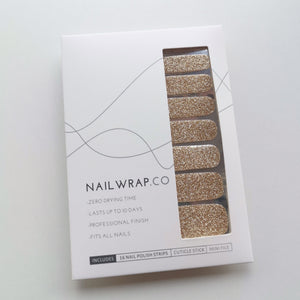 Good as Gold (Glitter) - NAILWRAP.CO Nail Wrap Co Nail Wraps Singapore Online SG Nail Stickers Nodspark Freshly Wrapped Freshlywrapped Emmezingnails Yaytonails Yay to Nails Nailedit-wraps Nailed it Gelato Factory Korea United States Australia Personail Itspersonail Nails Mailed Polishpops Cheap DIY Manicure Salon Gelish Acrylic Kids Happie Manufacturer Supplier Wholesale Customized Review