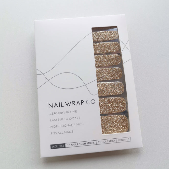 Buy Good as Gold (Glitter) Nail Polish Wraps at the lowest price in Singapore from NAILWRAP.CO. Worldwide Shipping. Instant designer nail art manicure in under 10 minutes.