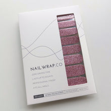 Load image into Gallery viewer, Buy Sparkling Rosé (Glitter) Nail Polish Wraps at the lowest price in Singapore from NAILWRAP.CO. Worldwide Shipping. Instant designer nail art manicure in under 10 minutes.