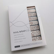 Load image into Gallery viewer, Buy Rose Gold Ripple Overlay Nail Polish Wraps at the lowest price in Singapore from NAILWRAP.CO. Worldwide Shipping. Instant designer nail art manicure in under 10 minutes.