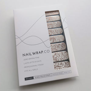 Buy Rose Gold Ripple Overlay Nail Polish Wraps at the lowest price in Singapore from NAILWRAP.CO. Worldwide Shipping. Instant designer nail art manicure in under 10 minutes.