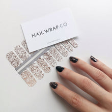 Load image into Gallery viewer, Buy Rose Gold Ripple Overlay Nail Wraps at the lowest price in Singapore from NAILWRAP.CO. We Ship Worldwide. Over 300 designs! Instant designer nail art under 10 minutes