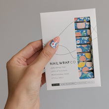 Load image into Gallery viewer, Buy Fruit Paradise 🍊🍋 Nail Polish Wraps at the lowest price in Singapore from NAILWRAP.CO. Worldwide Shipping. Instant designer nail art manicure in under 10 minutes.
