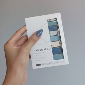 Buy Blue Aura Nail Polish Wraps at the lowest price in Singapore from NAILWRAP.CO. Worldwide Shipping. Instant designer nail art manicure in under 10 minutes.