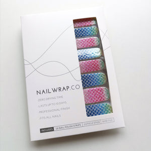 Buy Ariel Mermaid 🧜🏻‍♀️ Nail Polish Wraps at the lowest price in Singapore from NAILWRAP.CO. Worldwide Shipping. Instant designer nail art manicure in under 10 minutes.