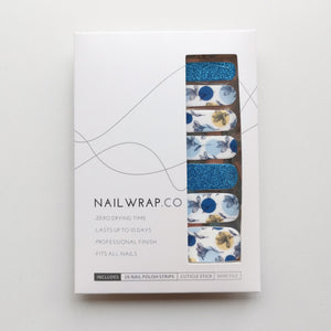 Blue Petals - NAILWRAP.CO Nail Wraps Singapore Online SG Nail Stickers Nodspark Freshly Wrapped Freshlywrapped Emmezingnails Yaytonails Yay to Nails Nailedit-wraps Nailed it Gelato Factory Korea United States Australia Personail Itspersonail Nails Mailed Polishpops Cheap DIY Manicure Salon Gelish Acrylic