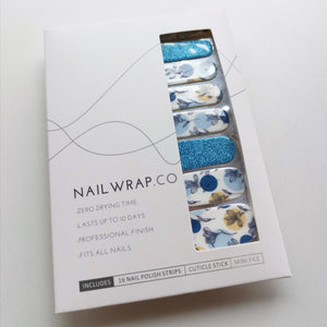 Buy Blue Petals Nail Wraps at the lowest price in Singapore from NAILWRAP.CO. We Ship Worldwide. Over 300 designs! Instant designer nail art under 10 minutes