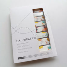 Load image into Gallery viewer, Buy Summer Foliage Nail Polish Wraps at the lowest price in Singapore from NAILWRAP.CO. Worldwide Shipping. Instant designer nail art manicure in under 10 minutes.