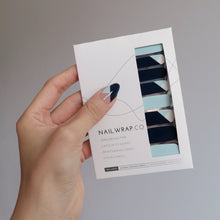 Load image into Gallery viewer, Buy Brilliant Blue Nail Polish Wraps at the lowest price in Singapore from NAILWRAP.CO. Worldwide Shipping. Instant designer nail art manicure in under 10 minutes.