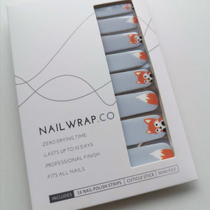 Little Fox - NAILWRAP.CO Nail Wraps Singapore Online SG Nail Stickers Nodspark Freshly Wrapped Freshlywrapped Emmezingnails Yaytonails Yay to Nails Nailedit-wraps Nailed it Gelato Factory Korea United States Australia Personail Itspersonail Nails Mailed Polishpops Cheap DIY Manicure Salon Gelish Acrylic