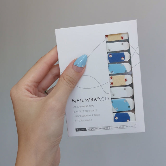 Buy Beach Holiday Nail Polish Wraps at the lowest price in Singapore from NAILWRAP.CO. Worldwide Shipping. Instant designer nail art manicure in under 10 minutes.