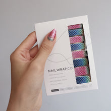 Load image into Gallery viewer, Buy Ariel Mermaid 🧜🏻‍♀️ Nail Polish Wraps at the lowest price in Singapore from NAILWRAP.CO. Worldwide Shipping. Instant designer nail art manicure in under 10 minutes.